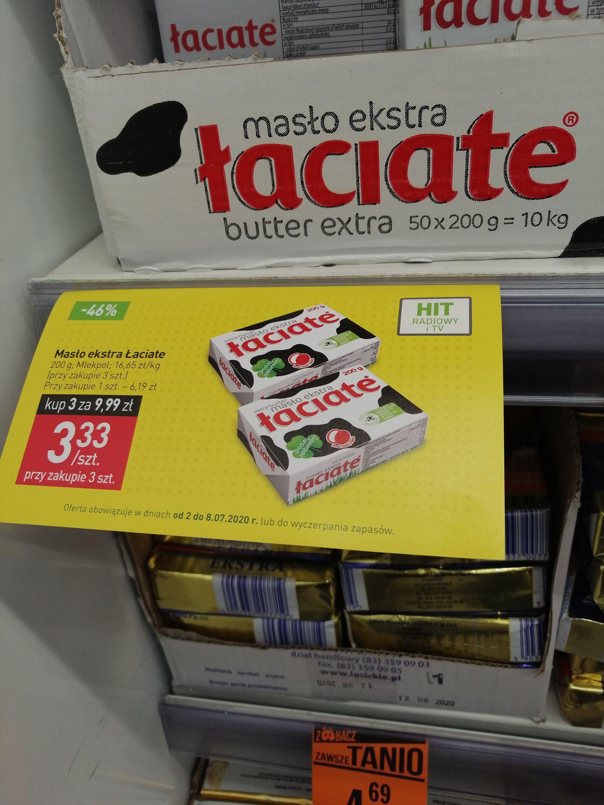Masło ekstra Łaciate taniej przy zakupie 3 szt. - Stokrotka