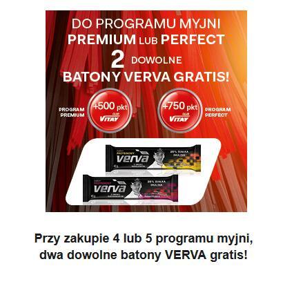 Orlen Myjnia - dwa batony gratis przy zakupie 4/5 programu myjni