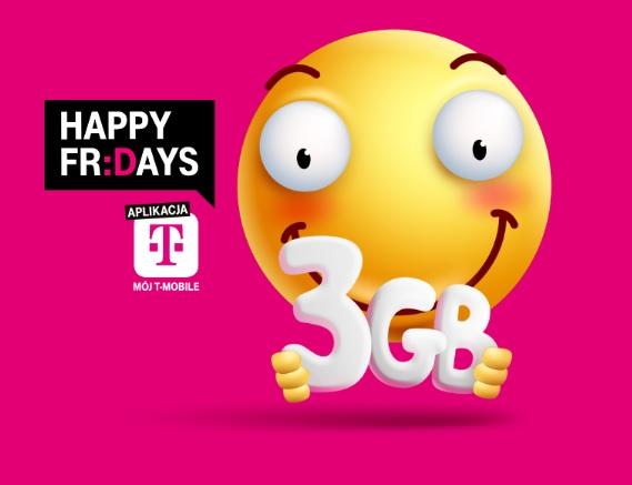 Darmowe 3 GB w T-Mobile (Happy Fridays)