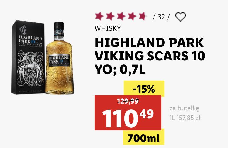 WHISKY HIGHLAND PARK VIKING SCARS 10 YO; 0,7L
