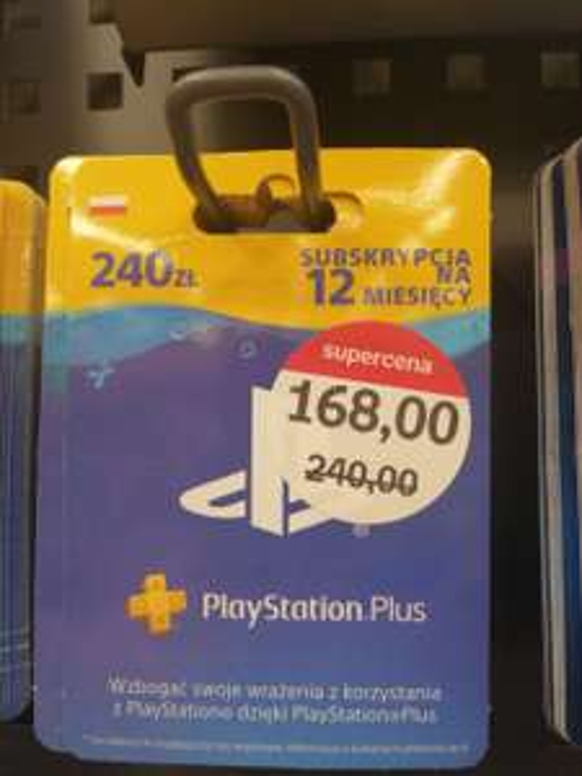 PlayStation Plus 12 miesięcy za 168 zł