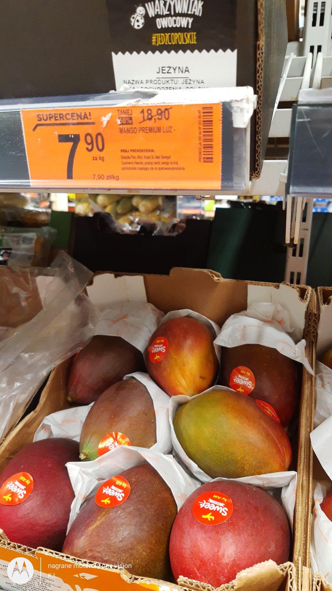 Mango 7,90zl/kg Biedronka