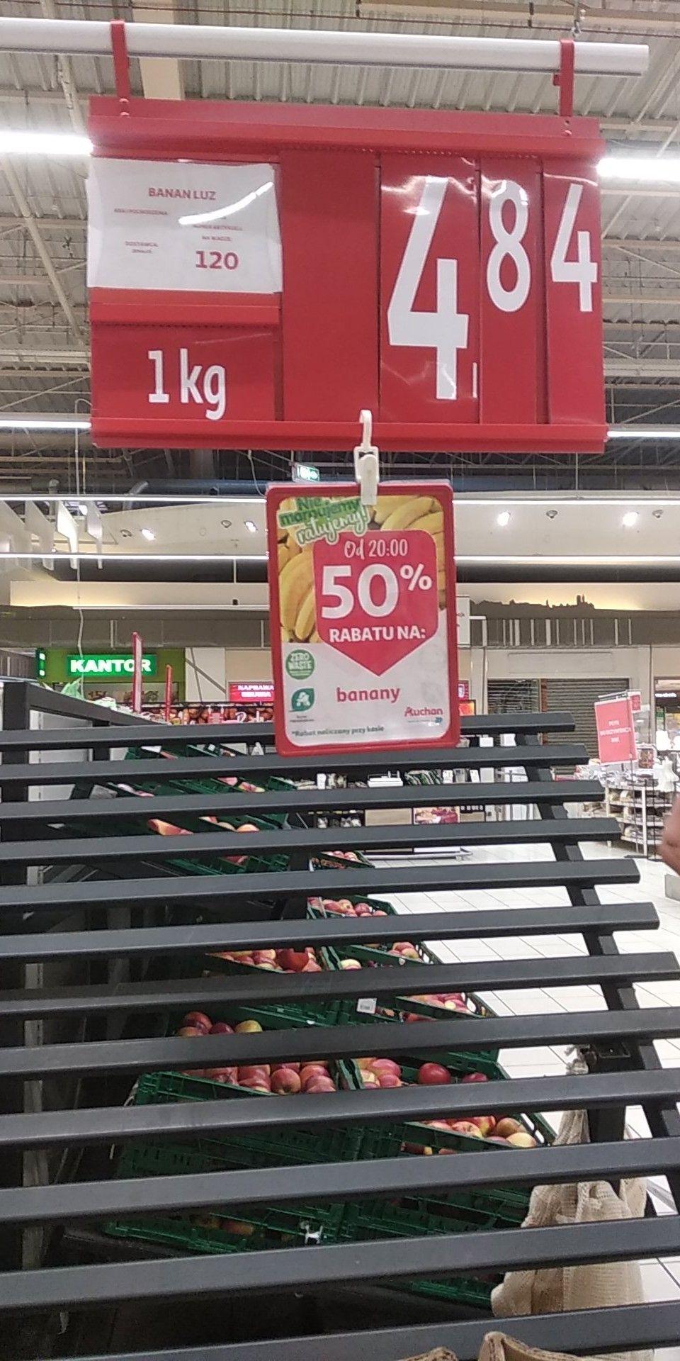 Banany w Auchan po 20 50% rabatu