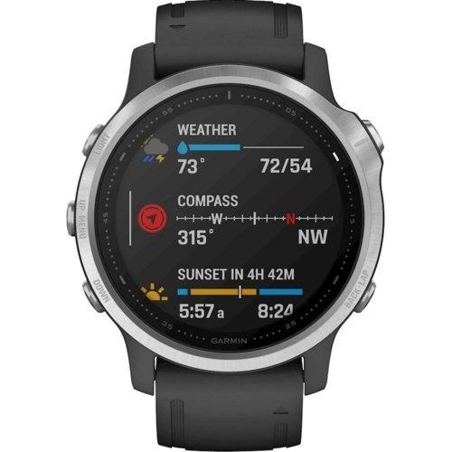 Zegarek sportowy GARMIN Fenix 6S Srebrno-czarny | Zapłać połowę za pół roku