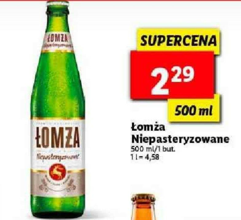 Łomża Niepasteryzowane 0.5l Butelka Lidl