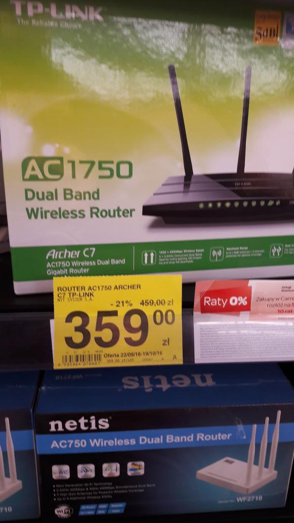 Router AC 1750 C7 za 359zł (możliwe 324zł) @ Carrefour