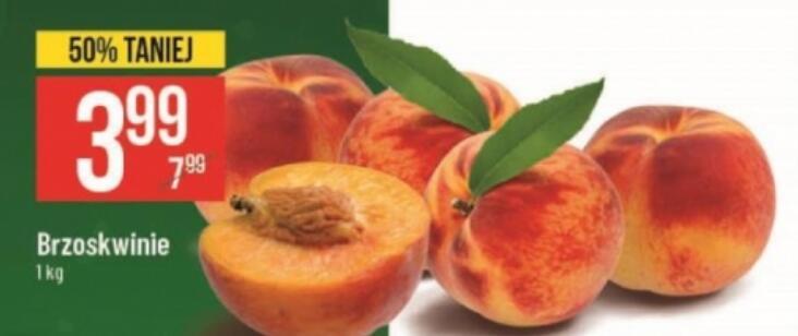 Brzoskwinie 3,99zł/kg @Ananas 2,99 zł/kg @Polomarket