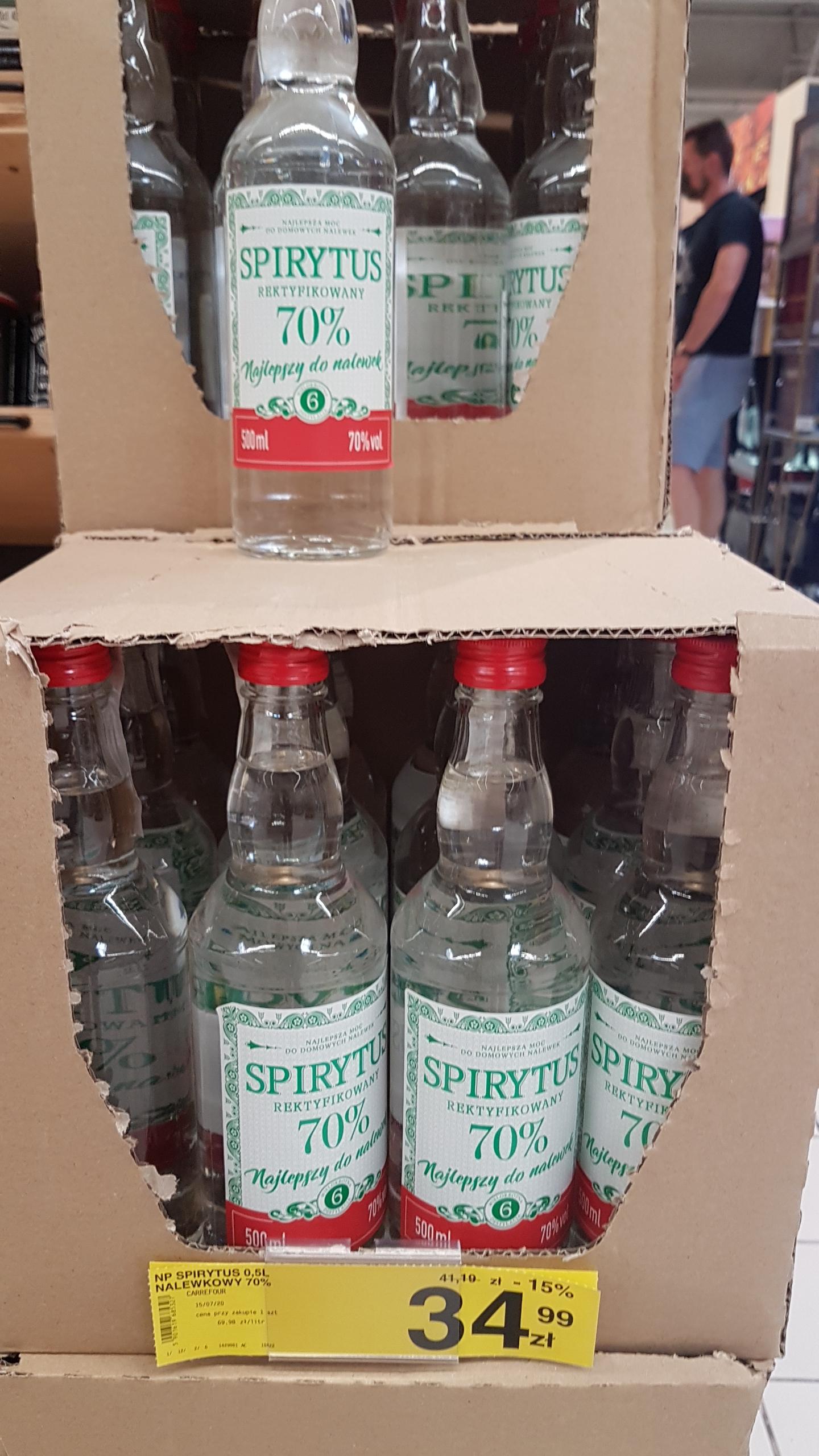 Spirytus rektyfikowany 0,5 l w Carrefour Toruń