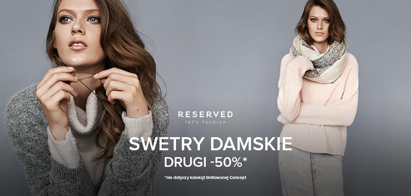 Drugi sweter za 50% @ Reserved