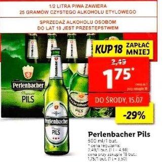 Piwo Pils Perlenbacher 500ml, przy zakupie 18 szt. - Lidl