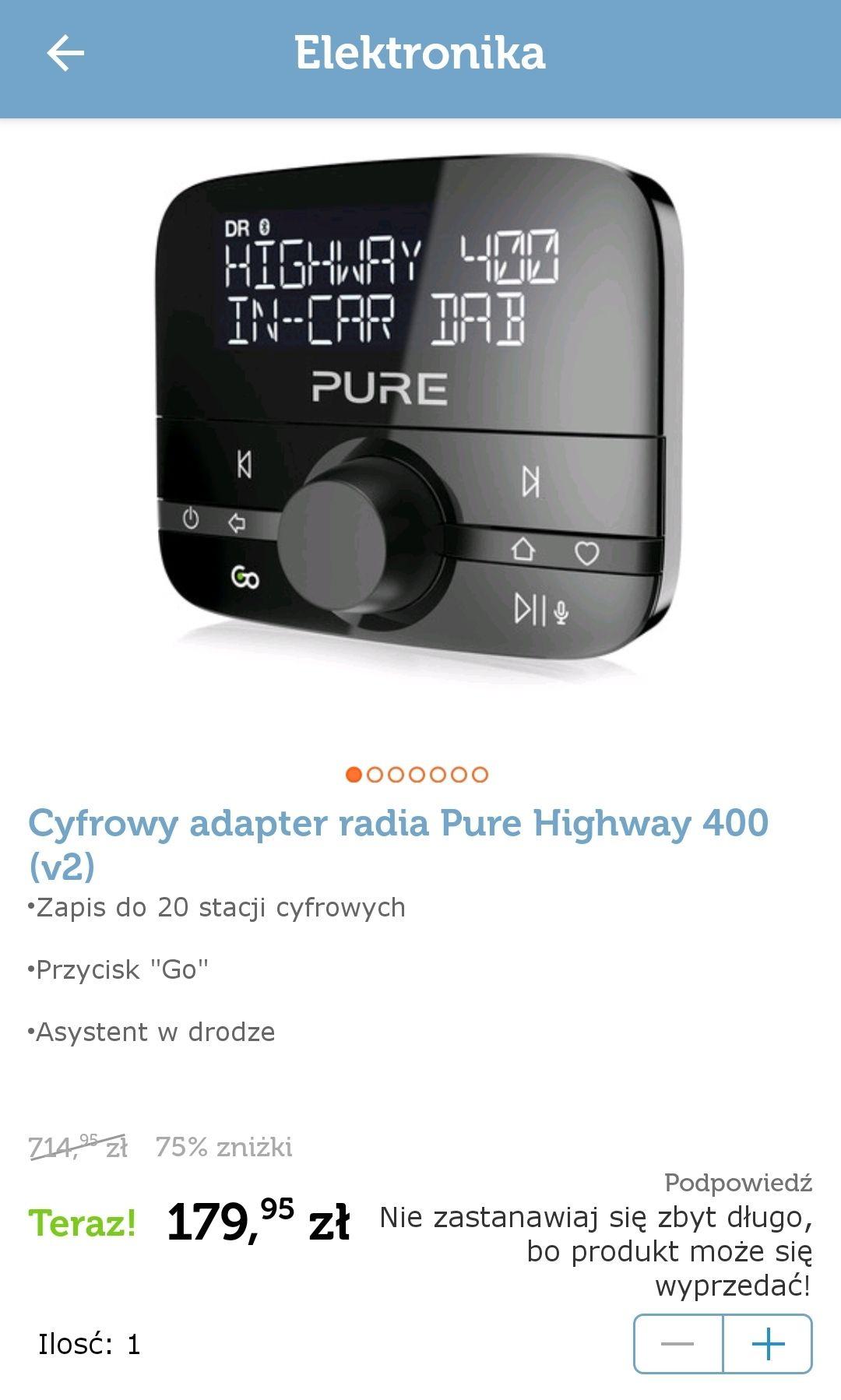 Cyfrowy adapter radia DAB+ i Bluetooth