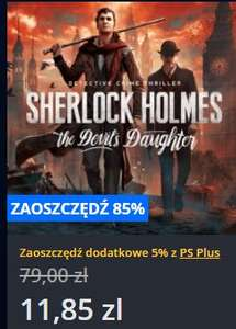 [PS4] Sherlock Holmes: The Devil's Daughter za 11.85 zł