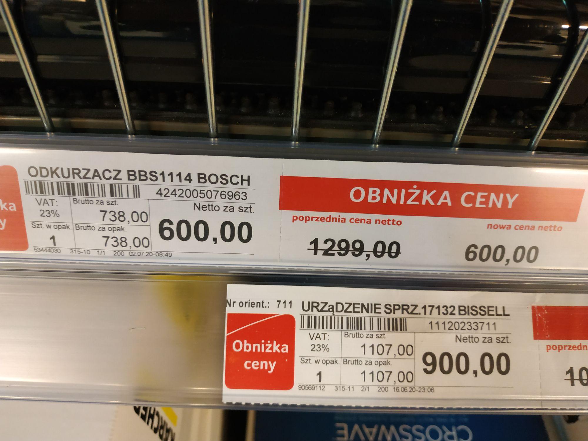 Selgros Kraków Odkurzacz akumulatorowy BOSCH BBS1114