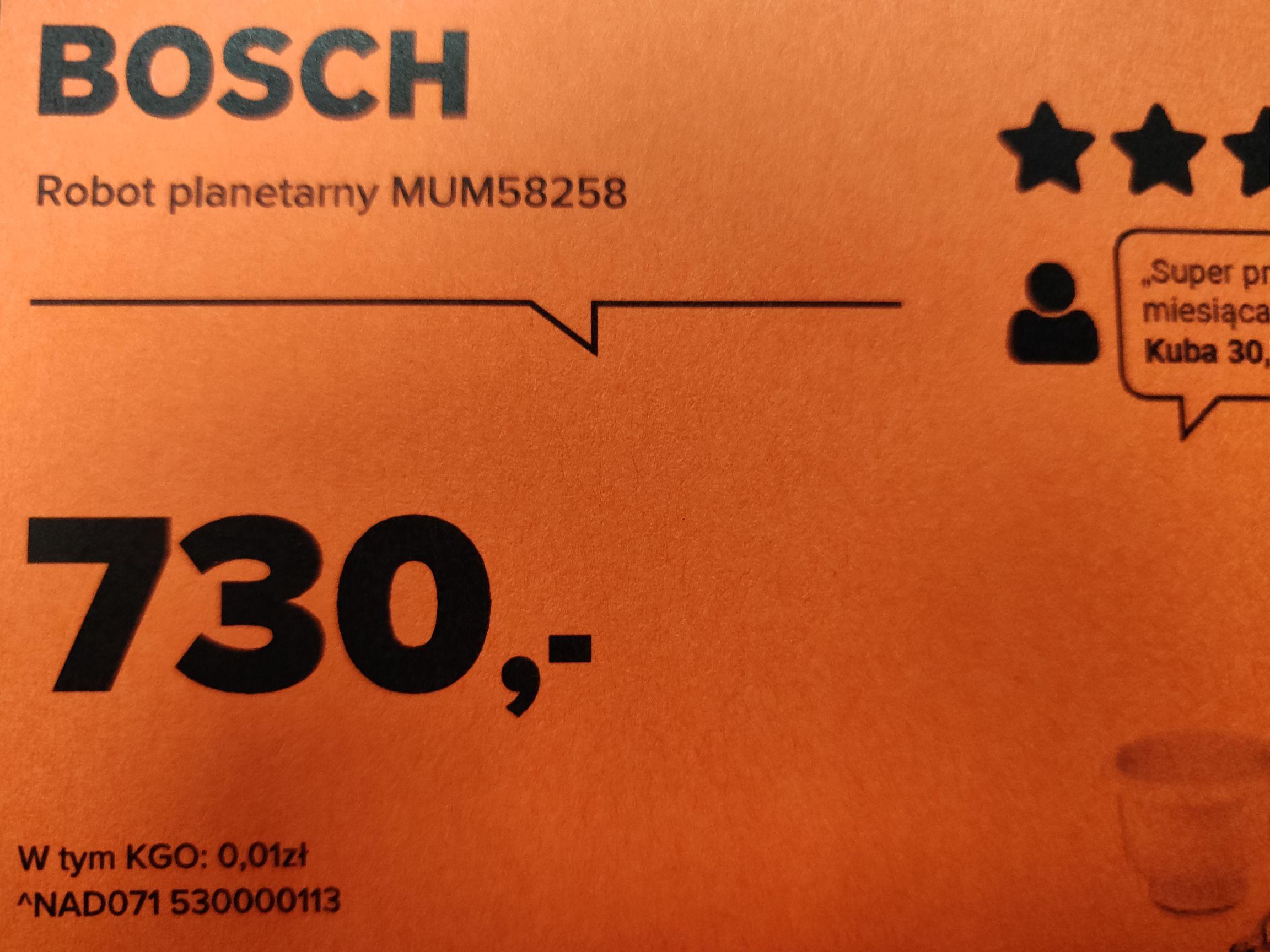 Robot planetarny Bosch Mum58258 w Neonet