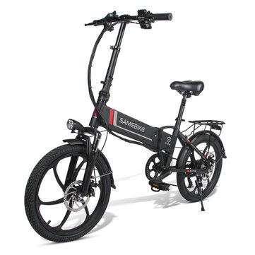 Składany rower elektryczny Samebike 20LVXD30 (maks prędkość 35km/h, zasieg 80 km) @Banggood