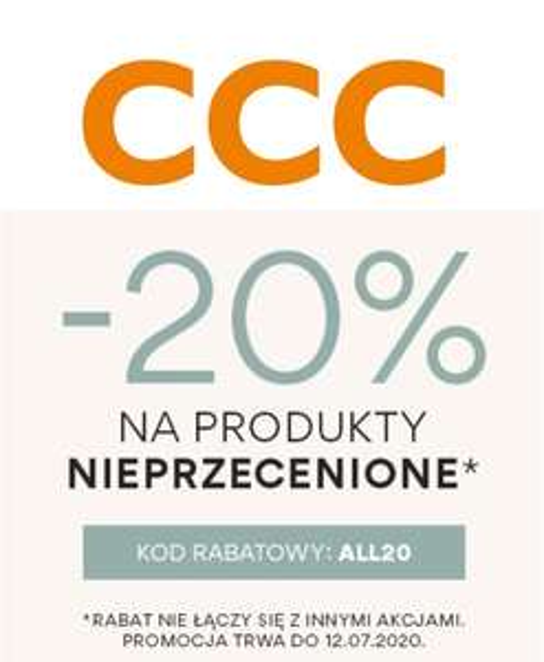 Rabat 20% na nowe kolekcje w @CCC online