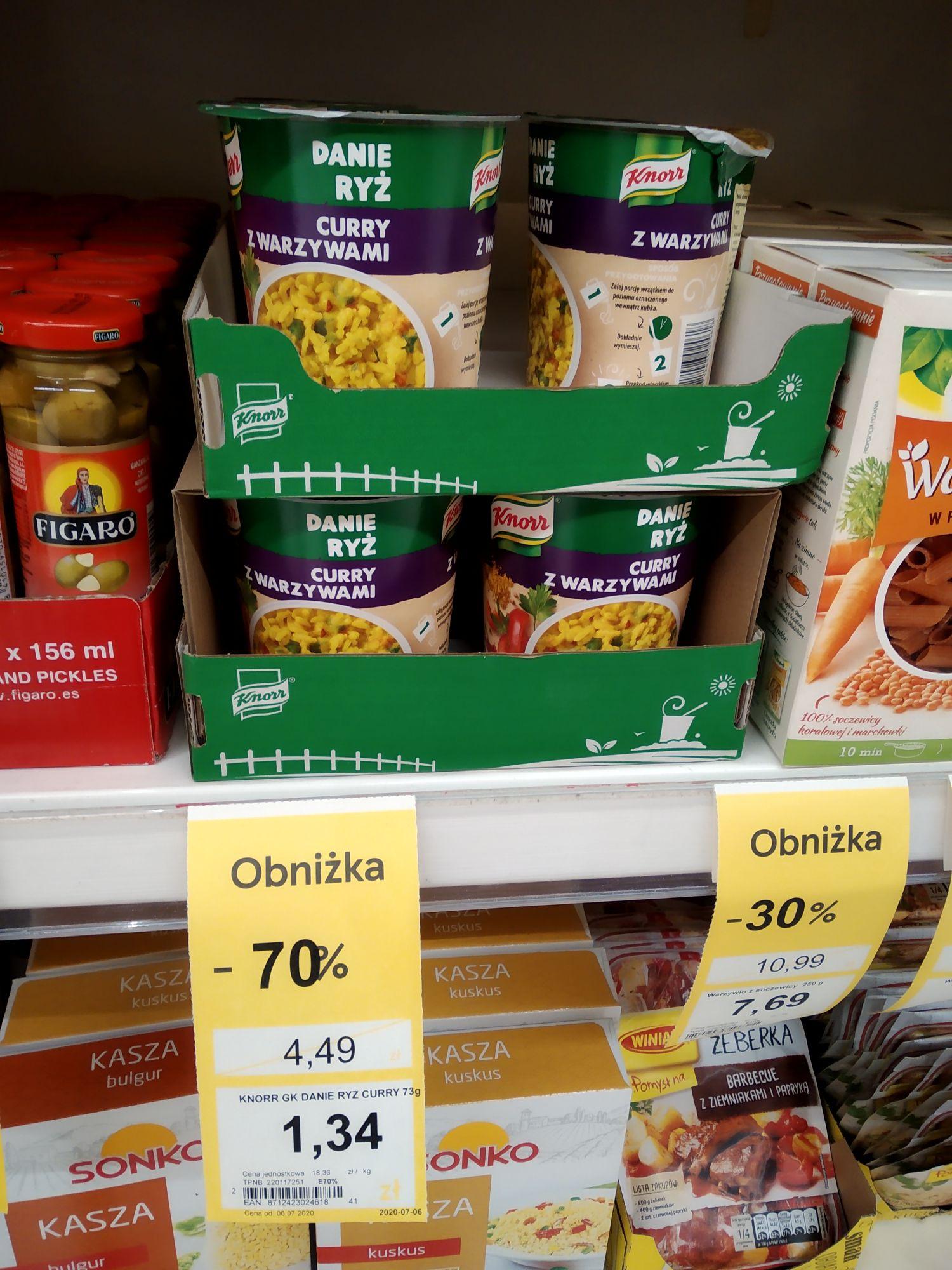Danie ryż z warzywami Knorr -70% Tesco
