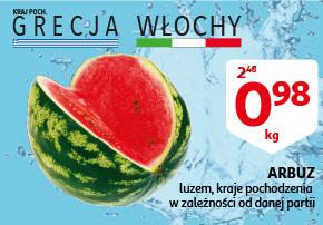 Auchan Arbuz 0,98 zł/kg