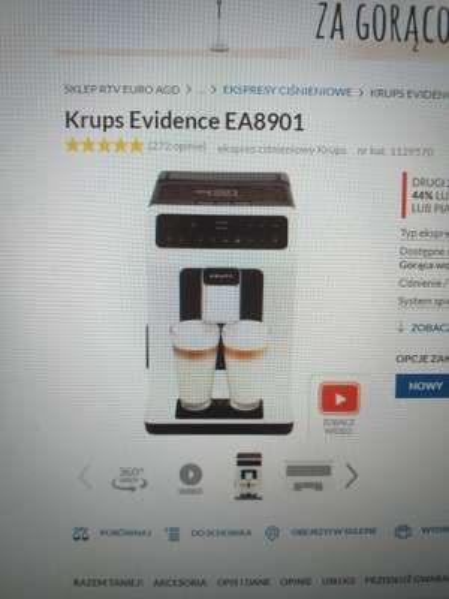 Promocją na ekspres Krups Evidence EA8901