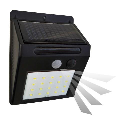 Kinkiet lampa solarna elewacyjna z czujnikiem ruchu