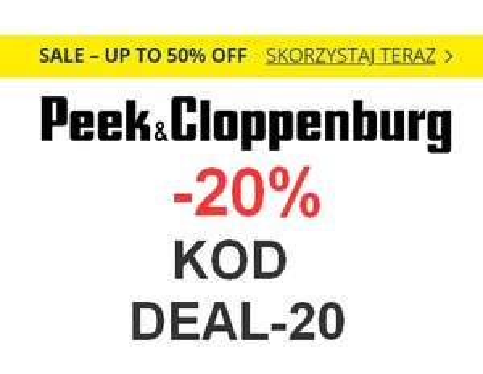 20% zniżki w @Peek&Cloppenburg na odzież, obuwie i akcesoria