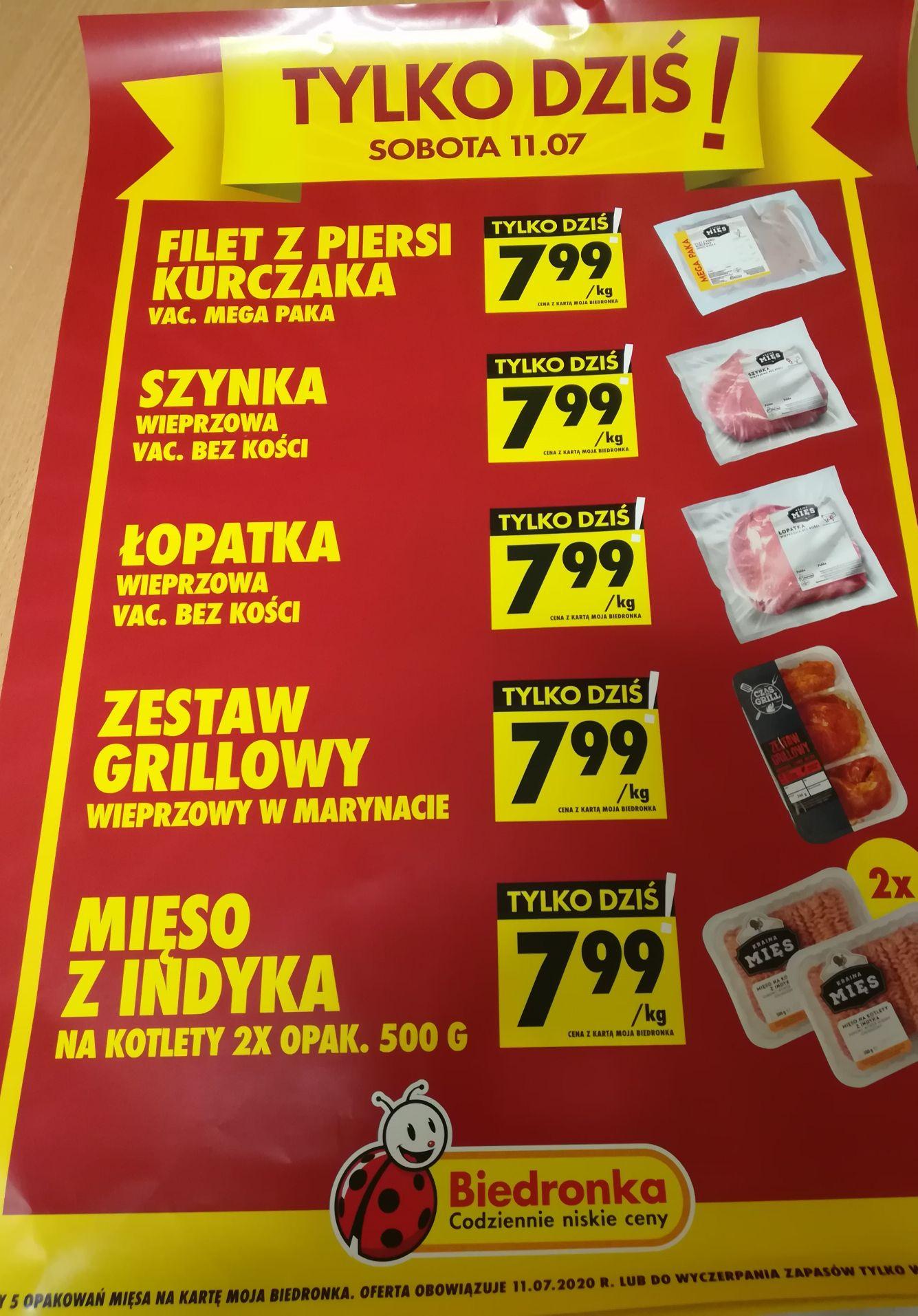 5 rodzajów mięsa w jednej cenie