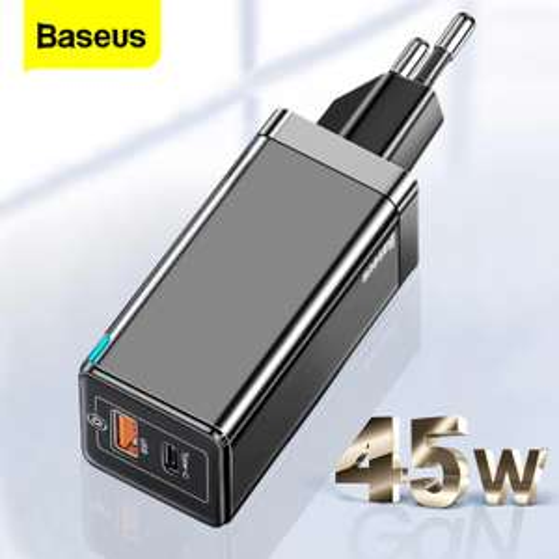 Ładowarka BASEUS GaN 45W + kabel USB C