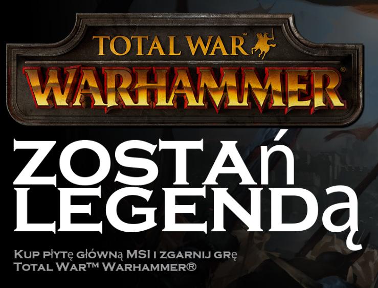 Warhammer: Total War gratis przy zakupie płyty głównej @ MSI