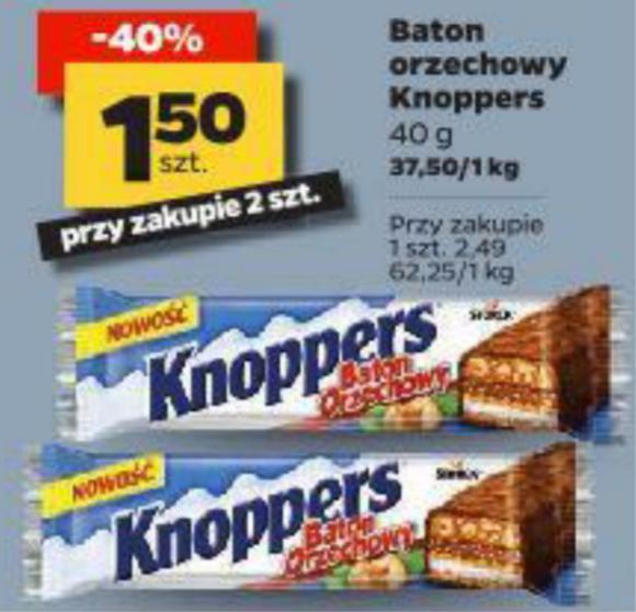 Baton Knoppers przy zakupie 2 szt. Netto