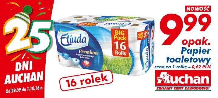 Papier toaletowy 16 rolek @Auchan