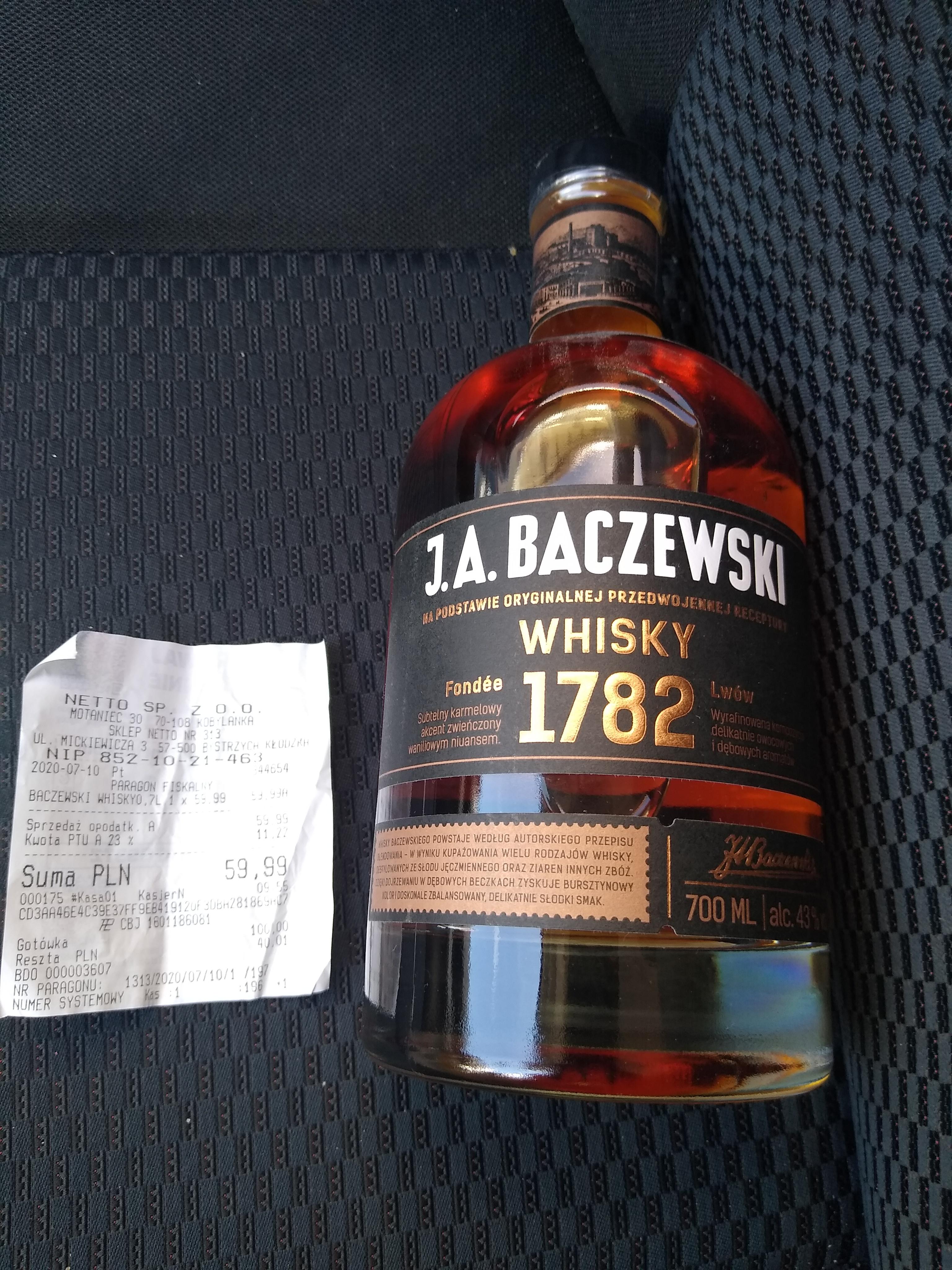 J.A. Baczewski - Whisky 0,7l @ netto