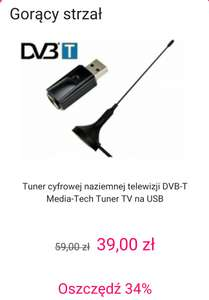 Media-Tech Tuner TV na USB MT4171 gorący strzał @x-kom
