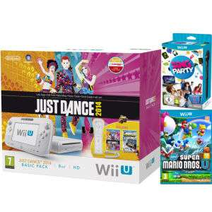 Nintendo Wii U Just Dance 2014 z Nintendo Land Bundle (zawiera New Super Mario Bros. U + SiNG Party Wii U z mikrofonem) @ Zavvi