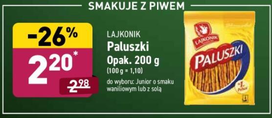 Paluszki Lajkonik lub Lajkonik Junior 200g @Aldi