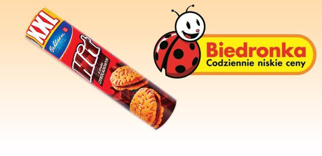 Ciastka Hit XXL o smaku czekoladowym (258 g) za 2,99 zł @Biedronka