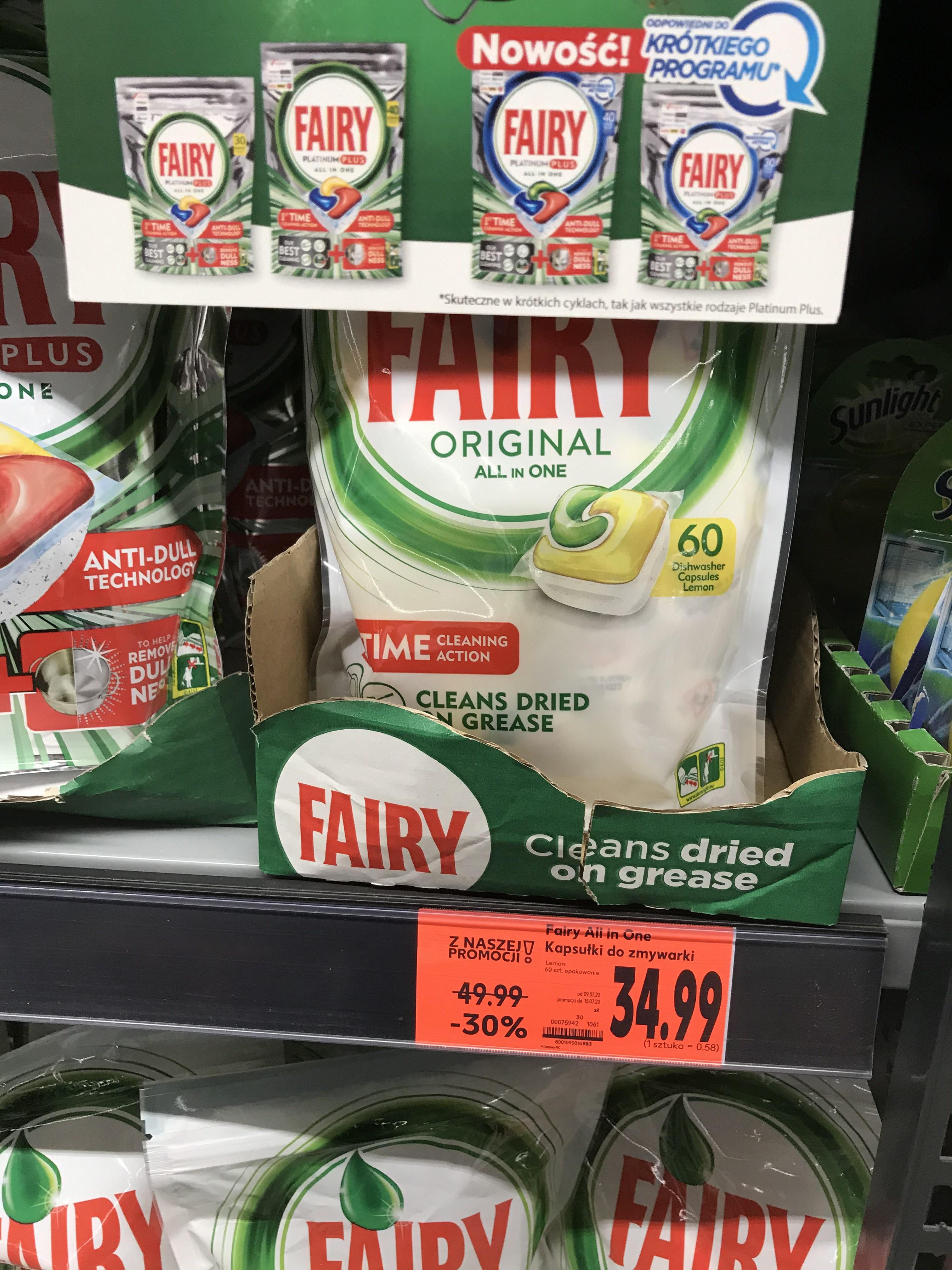 Fairy all in one kapsułki do zmywarki 60 sztuk