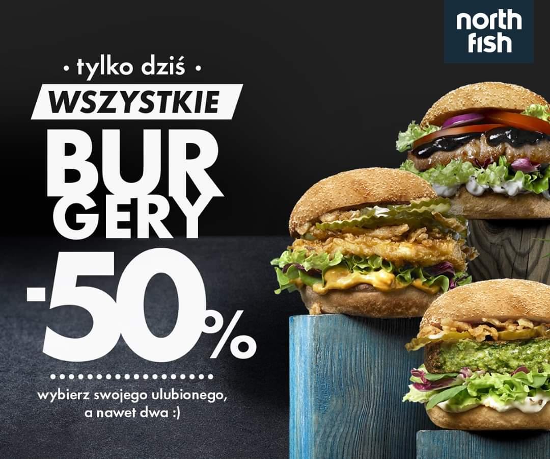 [North fish] wszystkie burgery -50%