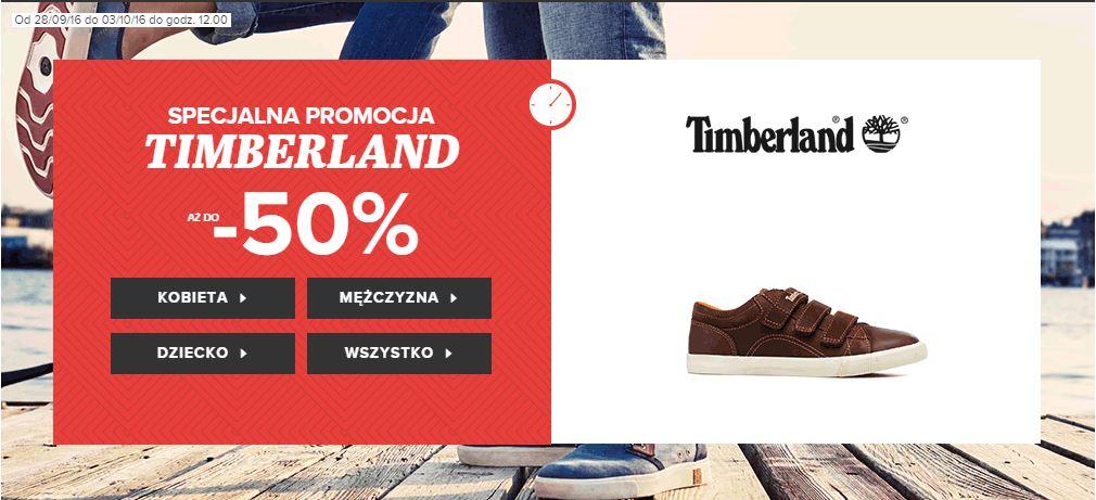 Do 50% rabatu na buty marek Timberland oraz Converse (damskie, męskie, dziecięce) @ Sarenza