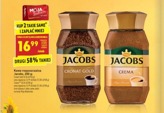 Jacobs Cronat Gold przy zakupie 2 szt. z Moja Biedronka