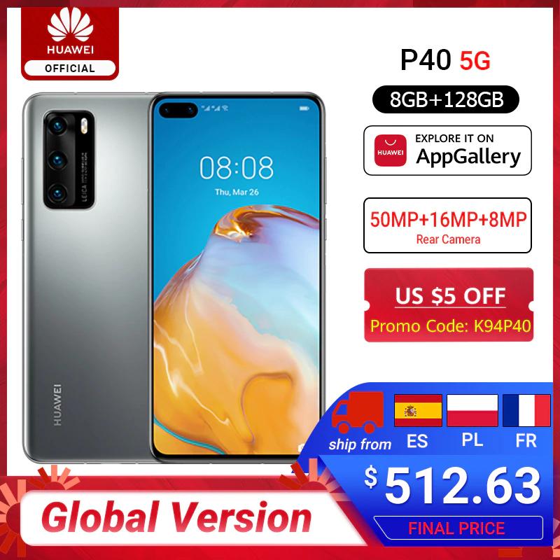 Smartfon HUAWEI P40, 8/128GB Global, wysyłka z PL