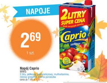 Napój Caprio 2L za 2,69 zł (jabłko, pomarańcza, multiwitamina, różowy grejpfrut, czarna porzeczka) @ E.Leclerc