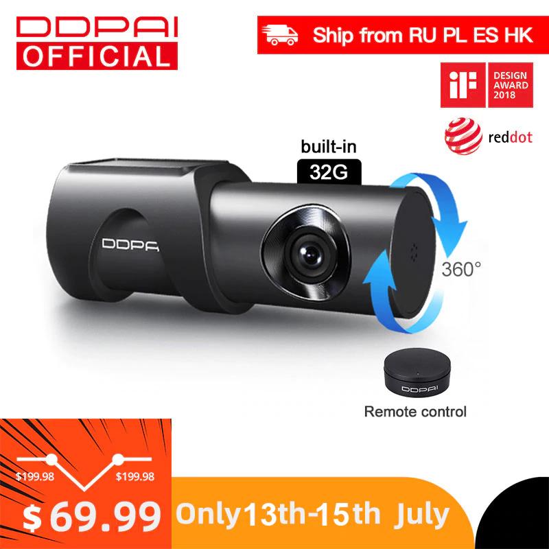 Kamera samochodowa DDPai Mini3 - wsparcie parkowania