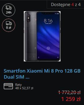 Xiaomi Mi 8 PRO 8/128GB Transparent/Clear.
