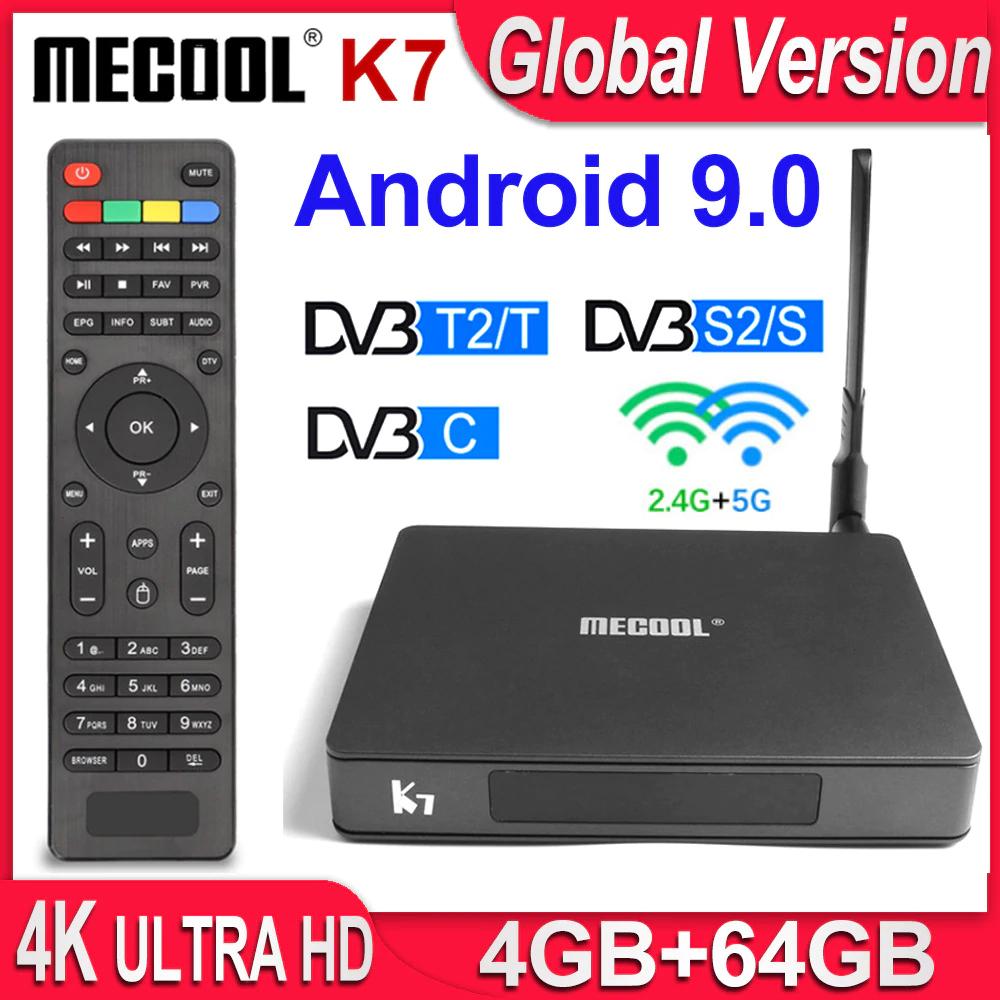 MECOOL K7 4K TV Box Android 9.0 4GB 64GB DVB-T2 DVB-S2 DVB-C