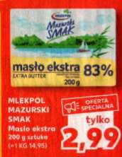 Masło ekstra Mlekpol 200g 83% tł. Kaufland