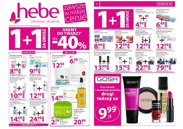 1+1 za GROSZ na wybrane produkty @ Hebe