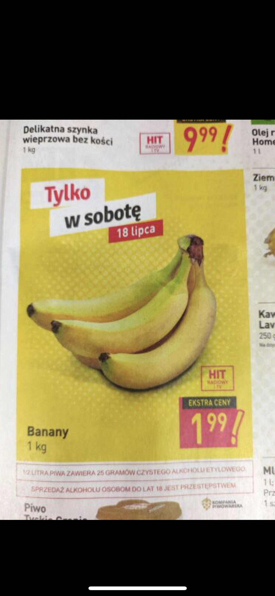 Banany po 1,99 zł za 1 kg w sobotę Stokrotka