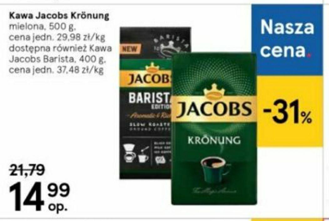 Kawa Jacobs mielona Kronung 500g/ Barista 400g 14.99 TESCO