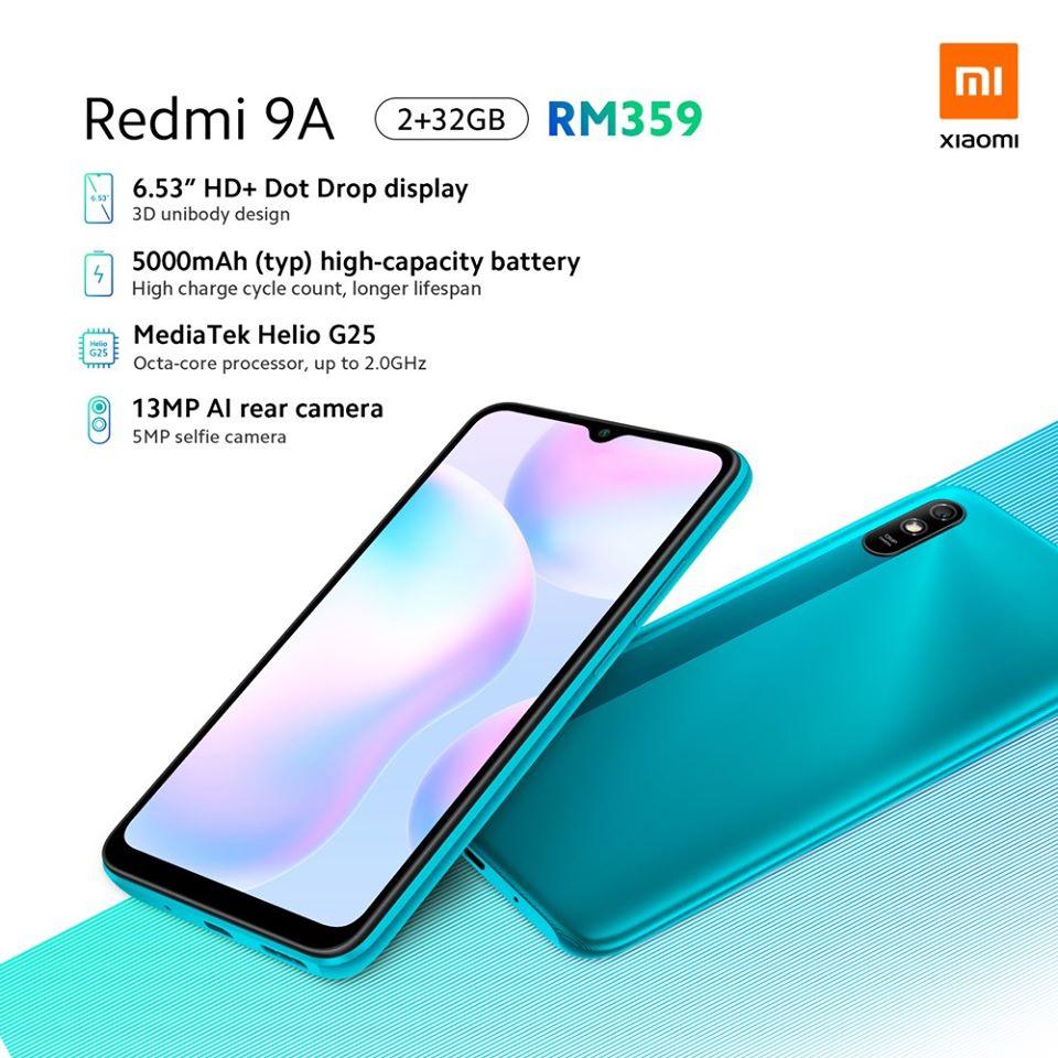Xiaomi Redmi 9A 6.53'' 5000mAh