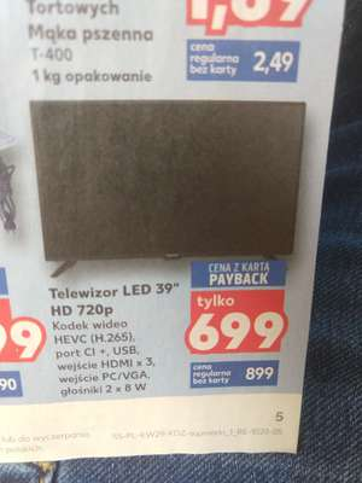 "Telewizor Blaupunkt LED 39"" Kaufland"